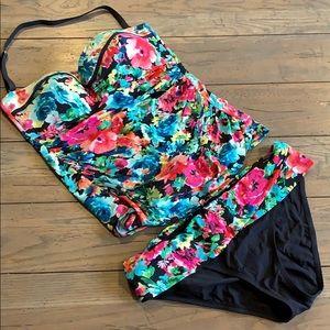 Floral Tankini Bathing Suit